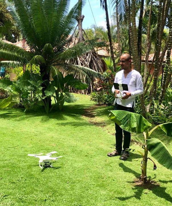 We're filming a few things here in Cost Rica using a drone