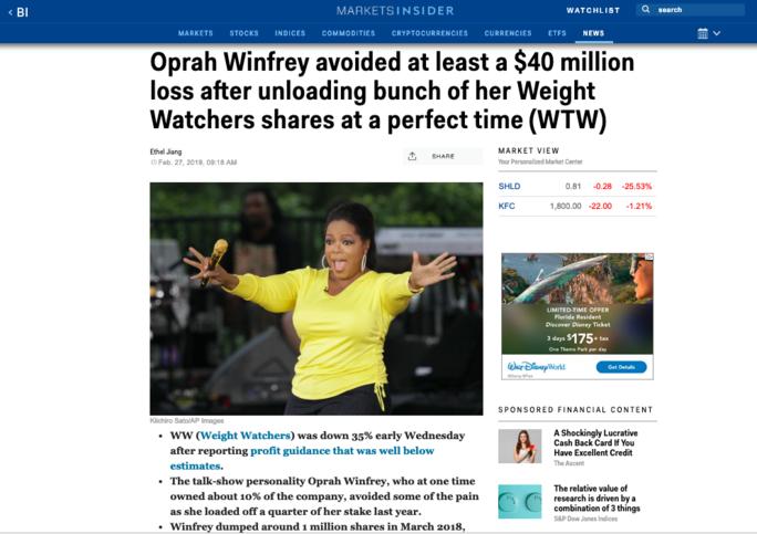 oprah stock